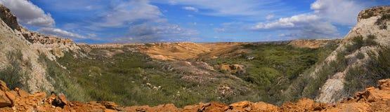 Canyon sui pendii del plateau Ustyurt Fotografia Stock