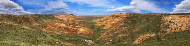 Canyon sui pendii di Ustyurt Immagine Stock Libera da Diritti