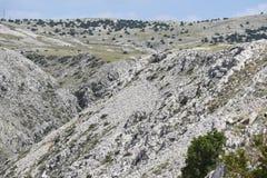 Canyon sull'isola di Krk Fotografie Stock Libere da Diritti
