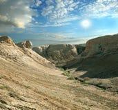 Canyon sulle montagne Shalkar-Nura Immagine Stock Libera da Diritti