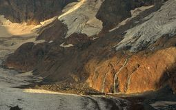 In canyon. This is sunlight in Caucasus canyon in morning Royalty Free Stock Images