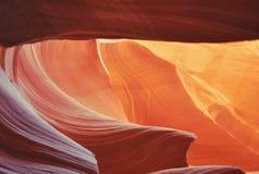 Canyon supérieur d'antilope, Arizona, Etats-Unis images libres de droits