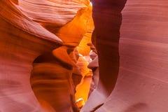 Canyon superiore dell'antilope, pagina l'utah Fotografie Stock Libere da Diritti