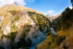 Canyon Swing. In New Zealand Stock Photos