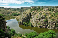 Canyon of Tajo river near Toledo, Spain Royalty Free Stock Photography