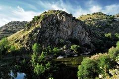 Canyon of Tajo river near Toledo, Spain Royalty Free Stock Images