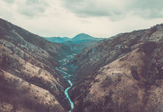 The canyon of Tara river in Montenegro, the Stock Photo