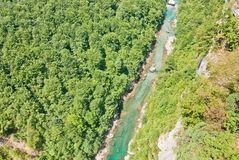 Canyon Tara. Canyon of River Tara in northern Montenegro Stock Image