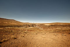 Canyon. Terrain in death valley Royalty Free Stock Images