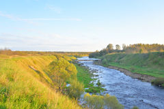 Canyon of Tosna River. Stock Images