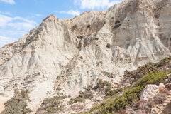 Canyon on the trail to Patamos beach on Gavdos Royalty Free Stock Photography