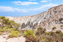 Canyon on the trail to Patamos beach on Gavdos Royalty Free Stock Photo