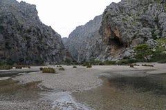Canyon in the Tramuntana Mallorca Royalty Free Stock Photo