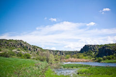 Canyon in Ukraine. This summer Royalty Free Stock Photography