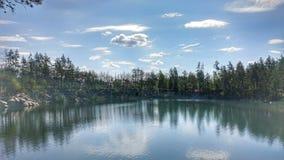 Canyon. Ukraine, nature, Lake, forest stock photography
