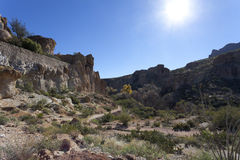 Canyon in Upland Sonoran Natural Area stock photography