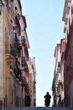 Canyon urbain typique à Lisbonne, Portugal Image libre de droits