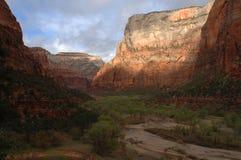 Canyon Utah di Zion Fotografie Stock Libere da Diritti