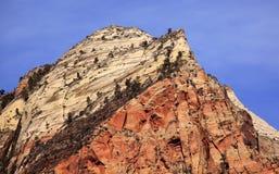 Canyon Utah di Zion dei Virgins della torretta della sentinella immagini stock libere da diritti