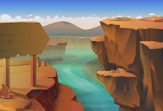 Canyon vector background Royalty Free Stock Photography
