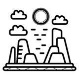Canyon vector icon. Illustration photo royalty free illustration