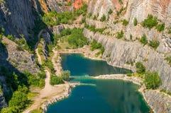 Canyon Velka Amerika in Czech republic stock photo