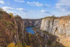 Canyon Velka Amerika dans la République Tchèque Image libre de droits