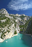 Canyon Verdon. In Provence in France Stock Photography