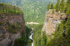 Canyon vicino alle cadute di Spahats Fotografia Stock