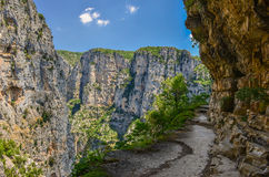 Canyon of Vikos. In central Greece Royalty Free Stock Photography