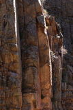 Canyon wall detail, Poudre Canyon. Detail of high walls of Poudre Canyon in northern Colorado near Fort Collins Stock Image