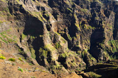 Canyon wall, Pico do Areeiro, Madeira. The wall of a canyon at Pico do Areeiro. Madeira, Portugal Stock Images