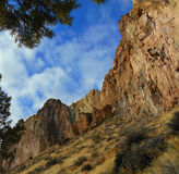 Canyon Walls. View in Smith Rock State Park - near Terrebonne, OR royalty free stock photos