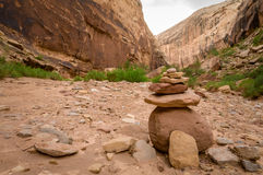 Canyon Washout. A Canyon Washout Royalty Free Stock Photo