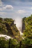 Canyon and Waterfall of Victoria Falls, Zimbabwe Royalty Free Stock Images