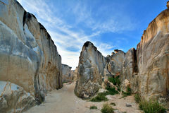 Canyon of weathering granite in Fujian, China Stock Image