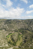 Canyon Wide Landscape View, Cirque de Navacelles, UNESCO, France Royalty Free Stock Images