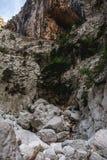 Canyon with woman far away Stock Image
