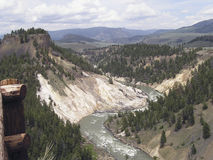 Canyon - Yellowstone. Canyon view - Yellowstone , Wyoming USA Stock Photos