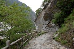 Canyon in yunnan china. Canyon with road in yunnan china Royalty Free Stock Images