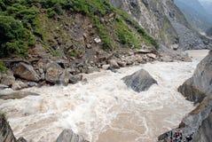 Canyon in yunnan china. Canyon with running river in yunnan china Royalty Free Stock Images