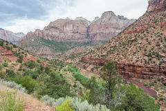 Canyon in Zion National Park in Utah Royalty Free Stock Photography