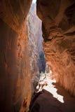 Canyon Zion NP della scanalatura Fotografie Stock Libere da Diritti