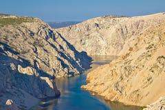 Canyon of Zrmanja river in Croatia Stock Photos