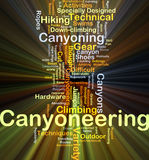 Canyoneering background concept glowing Stock Photography