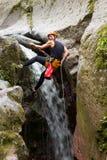 Canyoning ακραίος αθλητισμός Στοκ Φωτογραφίες