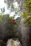 Canyoning καταρράκτης κόσμιο Βιετνάμ Στοκ Εικόνα