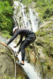Canyoning περιπέτεια Chamana Στοκ Εικόνα