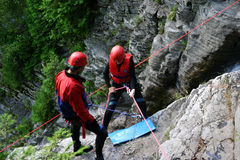 Canyoning Royalty-vrije Stock Foto's