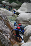 Canyoning. Adrenalin sport - Canyoning Royalty Free Stock Images